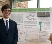 REU student Greg Moss presented his summer research!
